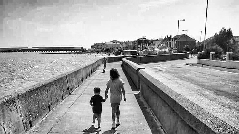 Holding Hands Boy And Girl Perspective Black And White Photography Black And White Black & White Kids Photography In Motion Feel The Journey
