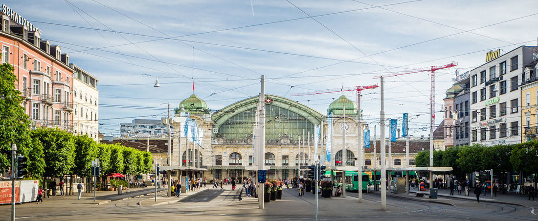 Adult Adults Only Architecture Architecture Bahnhof Building Building Exterior Built Structure City Day Dome Large Group Of People Outdoors People SBB Sky Sommergefühle Trainstation Tram Travel Destinations