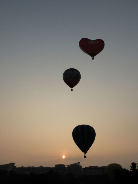 Hot Air Balloons Sunrise_sunsets_aroundworld Silhouette