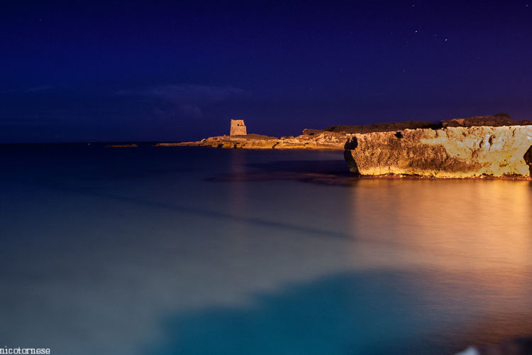 Night Reflection Travel City Architecture Water Harbor Built Structure Travel Destinations Long Exposure Lake Waterfront No People Building Exterior Outdoors Beach Sky Space Star - Space Tranquil Scene Beauty In Nature Nature Horizon Over Water Italia Puglia