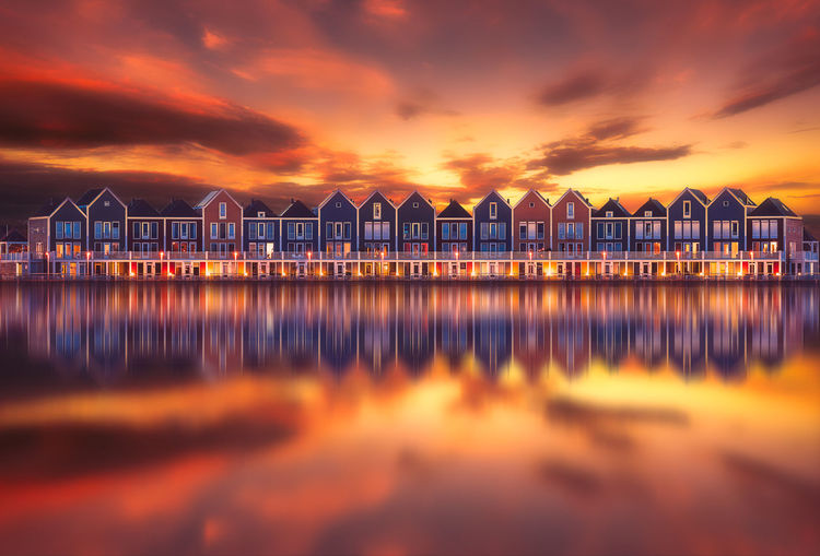 Cool architecture in Houten, Holland. Amsterdam EyeEm Best Shots EyeEm Gallery EyeEmNewHere Architecture Beauty In Nature Building Exterior Built Structure Cloud - Sky Day Dutch Eye4photography  Holland Horizon Over Water In A Row Nature No People Orange Color Outdoors Remo SCarfo Sea Sky Sunset Water Waterfront