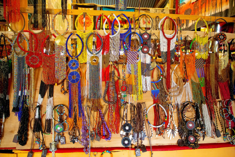 Multi colored hanging for sale in market