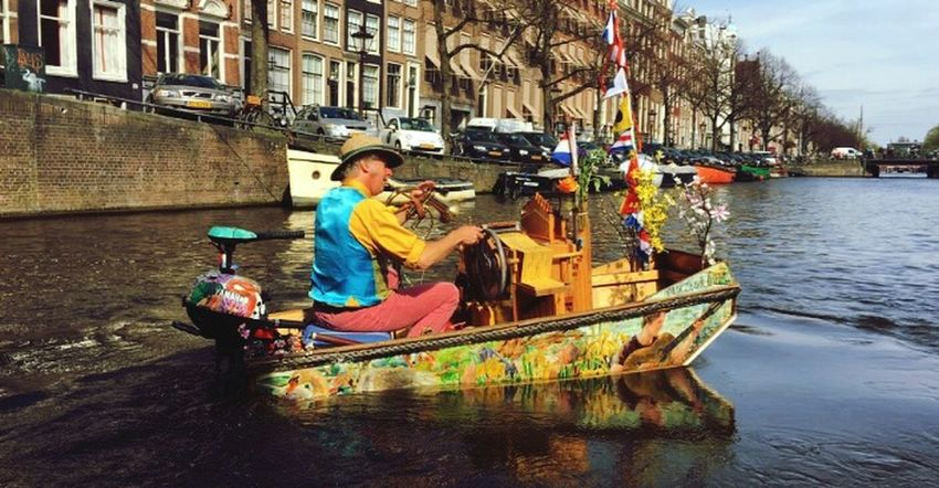 Men Music Musician Mode Of Transport Water Real People One Person Amsterdam Dreaming Love Art Is Everywhere
