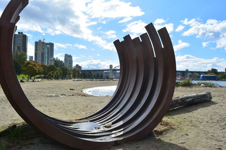 Vancouver Vancouver BC Canada British Columbia Outdoors Cloud - Sky Sky City Architecture Built Structure Nature Land Day Water No People Building Exterior Beach Wheel Tire Cityscape Sunlight Building Sand