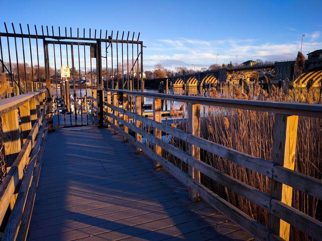 Bridge Footpath Gate Perspective Pier Railing The Way Forward Wood - Material Stratfordct Housatonic River Nexus5x