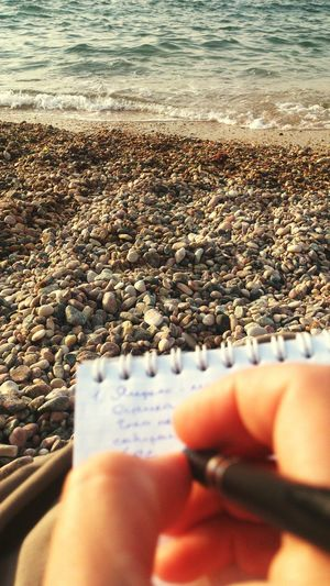 I really love my Job )) DreamJob Work At Home Sea Stones Beach Sepia