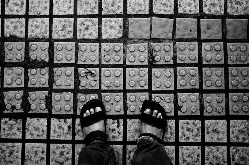 Backgrounds Flooring Full Frame Geometry Pattern På Repetition Tile Tiled Floor