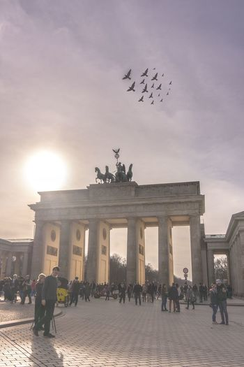 """Berlin, du bist so wunderbar"". The most visited tourist attration in Berlin on an unusally sunny, warm winter day. Landscape Betterlandscapes Landscape_Collection Travel Destinations City City Life Germany Berlin Brandenburger Tor Travel Destinations Travel Europe Sunny Springtime Tourist Attraction  Tourist Destination"