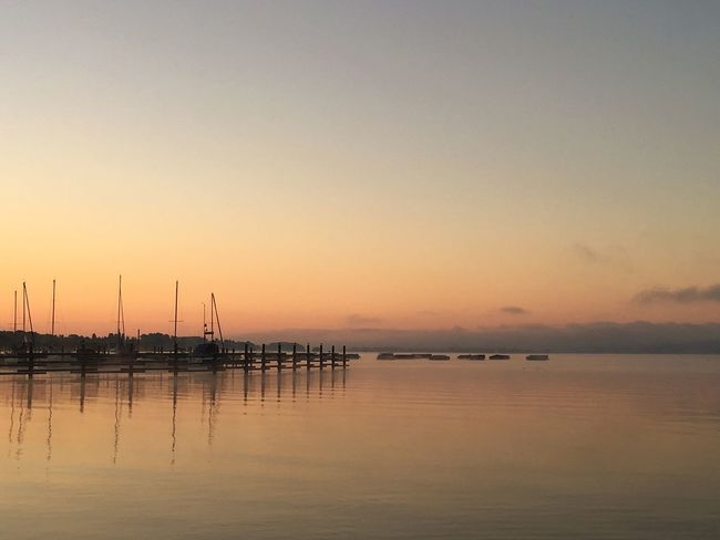 Water Sunset Tranquil Scene Scenics Tranquility Sea Waterfront Silhouette Dusk Idyllic Sky Beauty In Nature Majestic Calm Ocean Nature Atmosphere Lake Lake Of Constance Non-urban Scene Distant