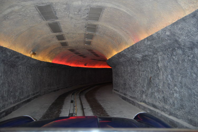 Road passing through tunnel