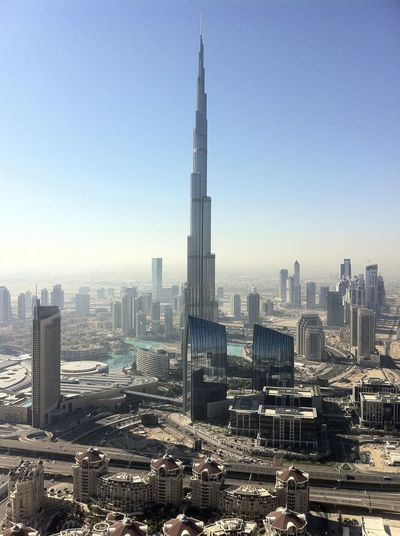 Aerial View Architecture Burj Khalifa Dubai Dubai2014 Expat Modern Nofilter Skyline Skyscraper Travel Destinations UAE Urban Skyline Vertical
