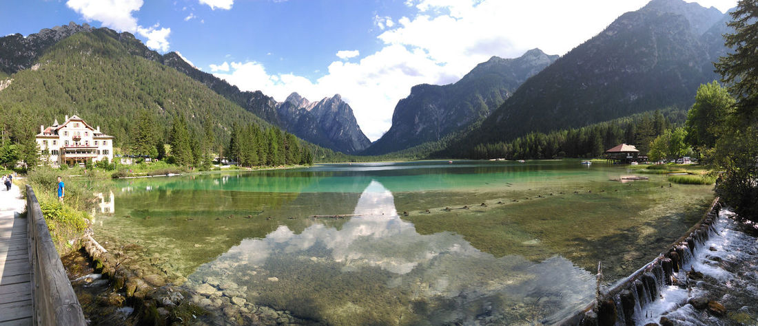 Nofilter Lake Water Mountain Reflection Landscape Nature Tranquility Travel Destinations Sky Vacations Symmetry Italy Lake Life LakeofBraies Lago Di Braies Paradise Perspectives On Nature