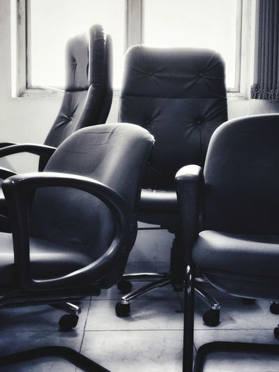 After The Meeting Empty Chair Profusion Blackandwhite Photography Forlorn Office EyeEm Ready   Chair Indoors  Furniture