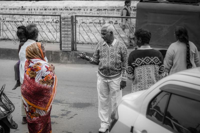 Beggar's life .. Adults Only Rear View Outdoors Men Women Real People Crowd Adult People Streetphotography India Taking Photos Tamilnadu Kodaikanal Travel Photography EyeEm Gallery Colorsplash Beggar Life Harsh Tadaa Community EyeEm Best Shots Lifestyles Old People City Women Around The World