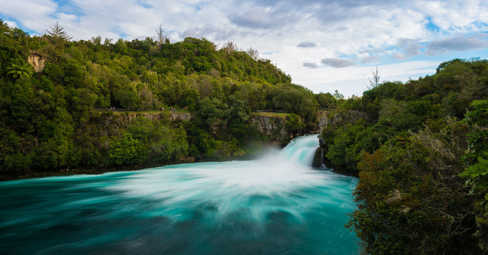 Huka Falls in all their might. Beauty In Nature Flow  Forest Landscape Long Exposure Lush Foliage Lush Vegetation Motion Movement Nature New Zealand Outdoors River Scenics Stream Summer Travel Travel Destinations Water Waterfall Woods