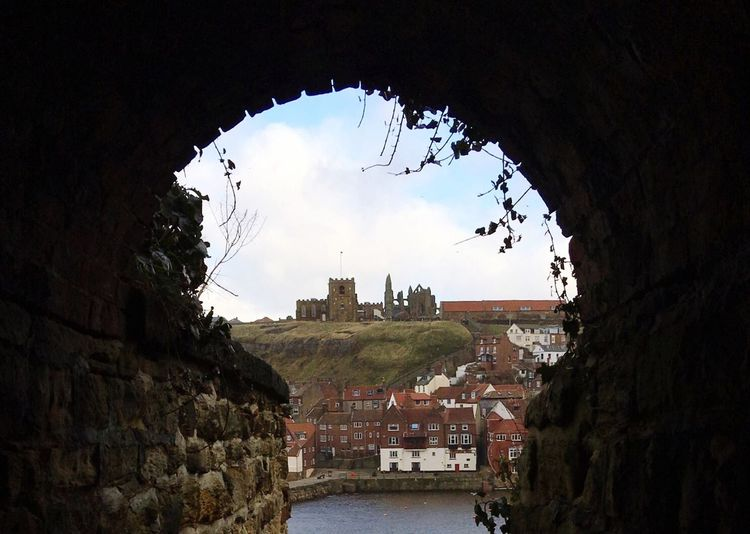 Whitby Abbey, North Yorkshire, England Built Structure Stone Wall Arch History Cloud - Sky Stone Material Historic Tunnel Town First Eyeem Photo Travel England