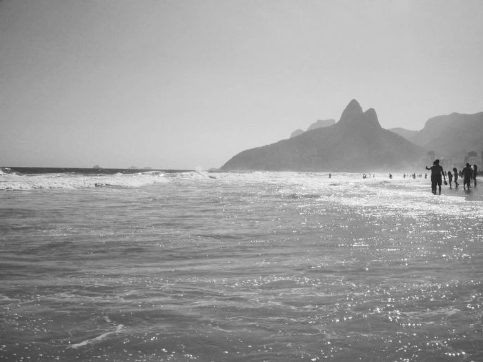 Scenic view of people on ipanema beach
