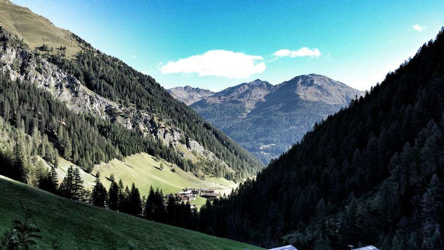 Urlaub Holiday Austria Oesterreich Tirol  Berge Tal Himmel Wolken Landscape Landscapes Landscape_Collection Landscape_photography