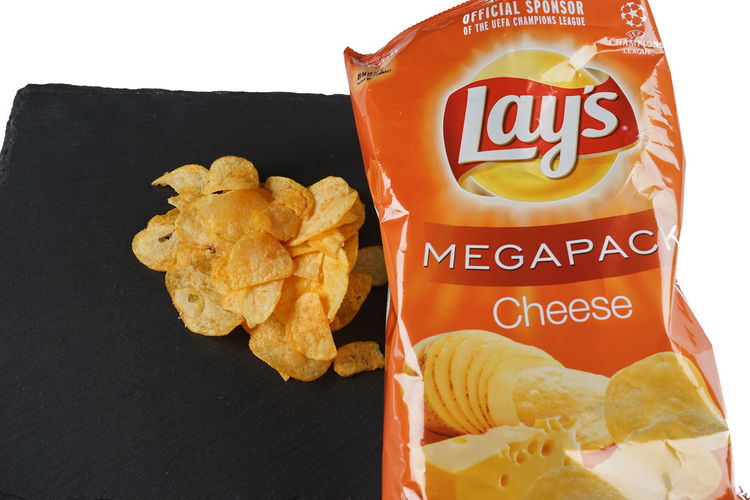 Lays Close-up Communication Convenience Food Day Fast Food Food Food And Drink Freshness Indoors  Indulgence No People Prepared Potato Ready-to-eat Snack Sweet Food Temptation Text Unhealthy Eating