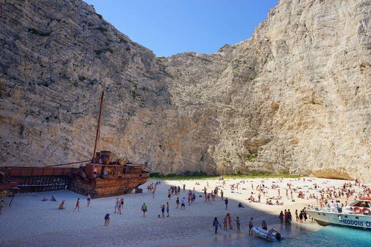 Shipwreck Cove in Zakynthos. Shipwreck Shipwreck Beach Shipwreck Cove Shipwreck Bay Beach Nautical Vessel Travel Destinations Zante Zakynthos Greece Pirate Ship
