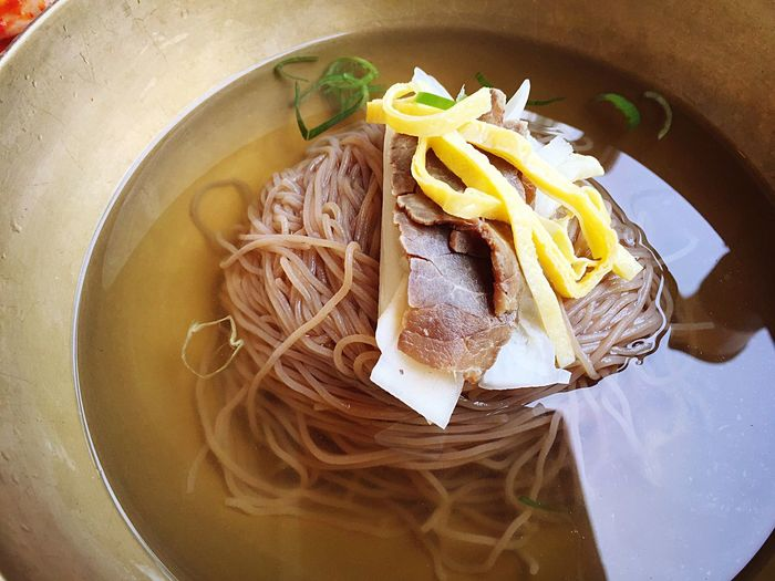 Korean Food Food And Drink Food Noodles Still Life Freshness Ready-to-eat Indoors  Bowl Serving Size Healthy Eating Korean Korea Naengmyeon No People Table Close-up Day Cool