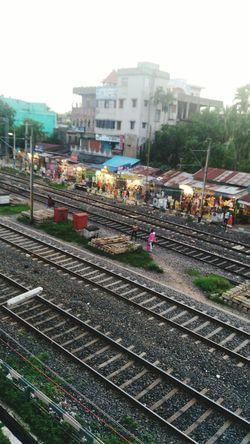 An Ariel View Of Market Place Beside Stn.