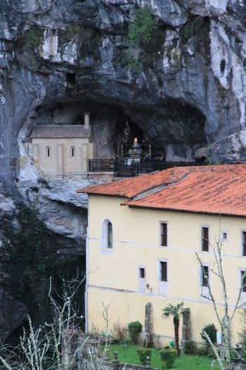 Architecture House Building Exterior Built Structure No People Outdoors Day Santa Cueva De Covadonga EyeEm Best Shots Check This Out Hanging Out Taking Photos Enjoying Life Religion Religious  Religious Architecture Faith Nature Nature_collection