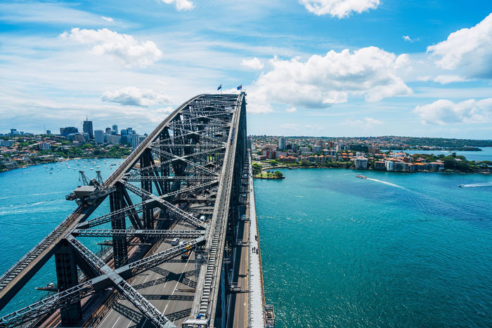 The iconic Sydney Harbour Bridge. Australia Bridge City EyeEm Best Shots Famous Place Iconic Perspective Showcase: December Sydney Harbour Bridge
