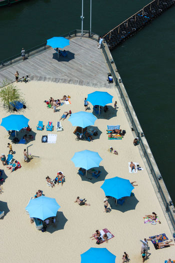 Adult Adults Only Beach Crowd Day High Angle View Large Group Of People Leisure Activity Nature Outdoors People Relaxation Sand Sea Sitting Sky Summer Vacations Water