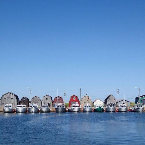 Fishing boat row. Prince Edward Island