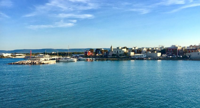 Savelletri ❤️ Italy Sea Puglia Nature Sea And Sky Seascape Blue (null)Outdoors Sailboat Love