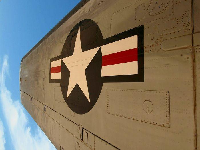PimaAirandSpaceMuseum USAF Usaf Emblem Tucson, Arizona Airplane Wing