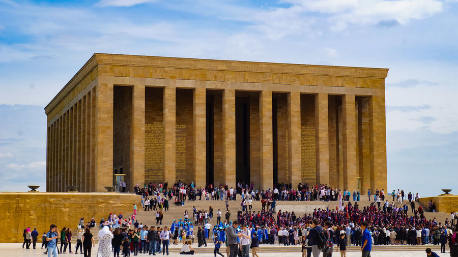 The Architect - 2017 EyeEm Awards Large Group Of People Cloud - Sky Architecture Architectural Column Crowd Sky Travel Destinations People Outdoors Building Exterior Men Day Adult Politics And Government Adults Only Anitkabir Museum Anıtkabir ATATÜRK ❤ My Leader