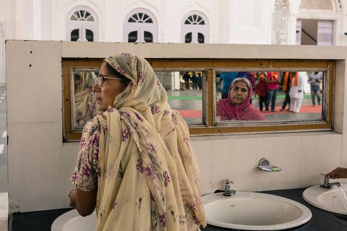 ANANDPURSAHIB Anandpur Sahib Everyday Lives India Punjab Reflection Travel Travel Photography Day Mirror People Real People Street Photography