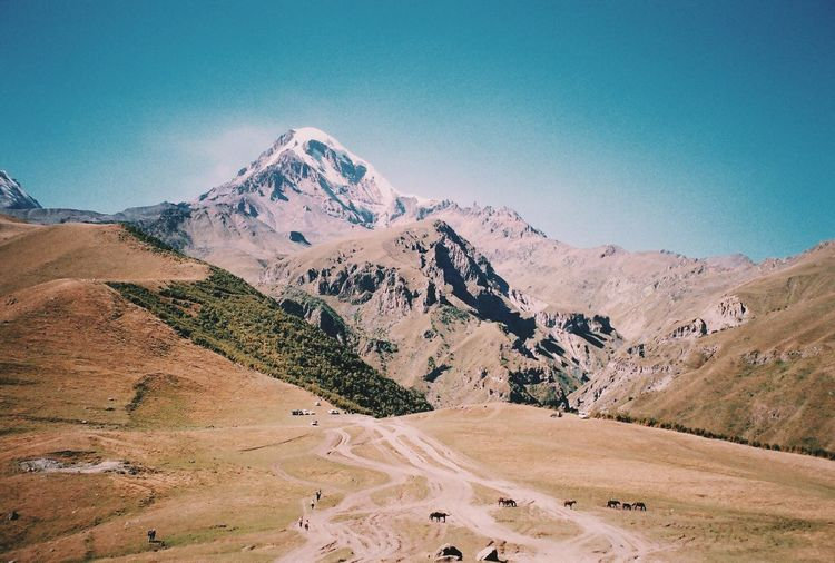 Film Analog Filmisnotdead Filmphotography Analoguephotography Mountain Nature Clear Sky Landscape Outdoors Day Kodakphoto Travelling Beauty In Nature