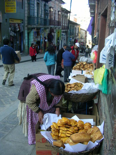bread vendors in bolivia Local City On A Hill Cultures Day Food Microfinance People