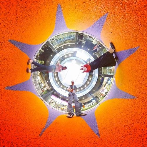 Under the sun? No. We are inside! ☀ ☺ Theta360 Theta360contest Ricoh LittlePlanet Tinyplanet Ricohthetas @ AEON Mall