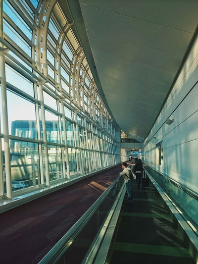 Travel Airport Architecture Travelator Perspective Sidelight Lines