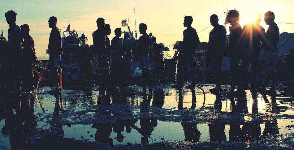 chatting People Streetphotography Sunset SilhouettesThe Street Photographer - 2014 EyeEm Awards The City Light