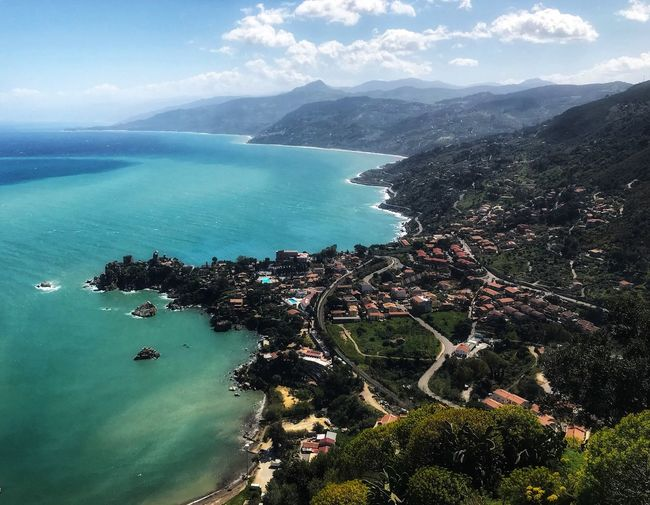 Cefalù, Sicily Cefalú, Sicilia, Mare, Paesaggio Water Sea Scenics - Nature Beauty In Nature Land High Angle View Tranquil Scene Beach Aerial View Sky No People