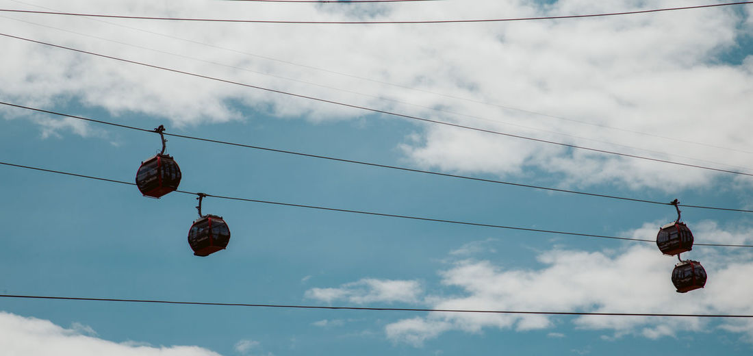 Ciudad Bolívar Bogotá Colombia South America Latin America Transmicable Sky Nature Cloud - Sky Day Outdoors Low Angle View Cable Hanging Electricity  Power Line  No People Lighting Equipment Connection Technology Fuel And Power Generation Power Supply