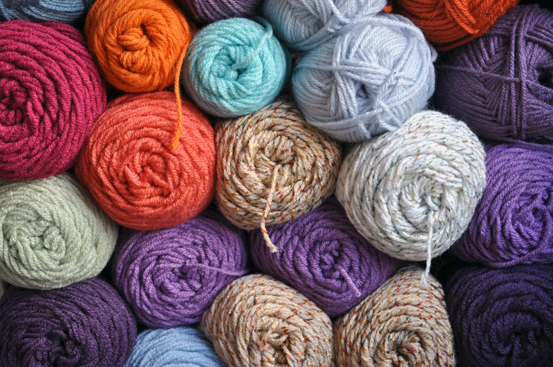 Wool Textile Ball Of Wool Material Multi Colored Full Frame Craft Backgrounds Art And Craft Large Group Of Objects Variation Knitting Choice Softness Abundance Purple Creativity Close-up Collection Order Yarn Yarns Yarn Balls Skein Skeins