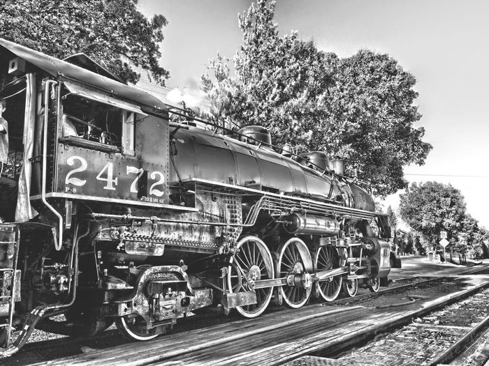 Steam Engine 2472 built in 1921, started service from Salt Lake City to Ogden, Utah. .Train Ride on Labor Day, Sunol, CA Steam Train Steam Engine Steam Engine 2472 Transportation Open Edit My Favorite Photo Of The Day Sunol, CA