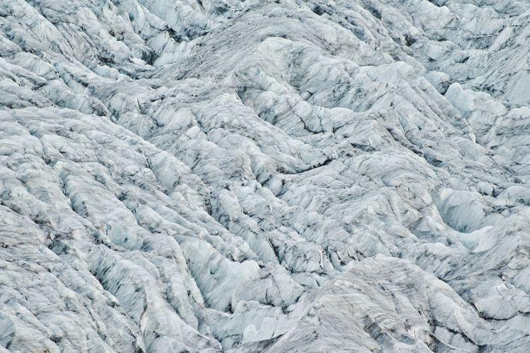 Full frame shot of snow covered glacier