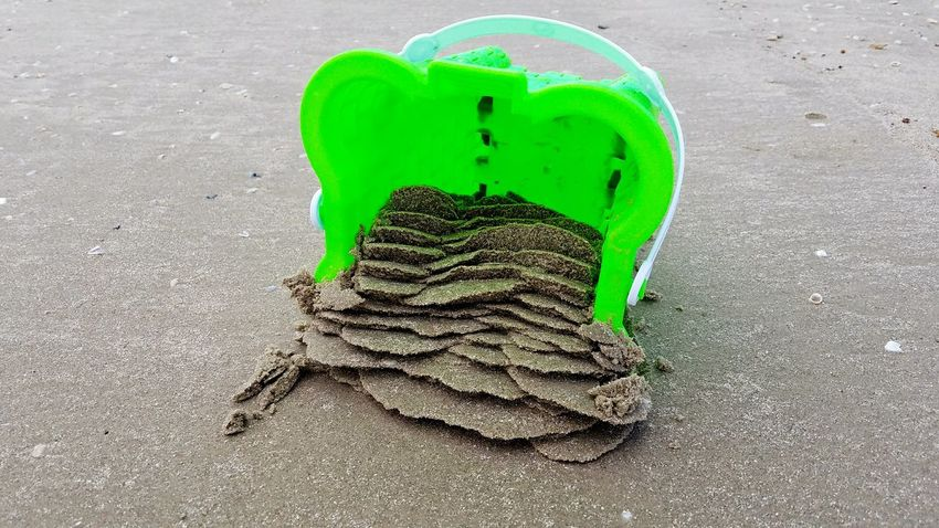 Green Color No People Day Close-up Sand Sand Castle Beach Texas Mustang Island Samsung Galaxy S7 Edge Sommergefühle Neon Life