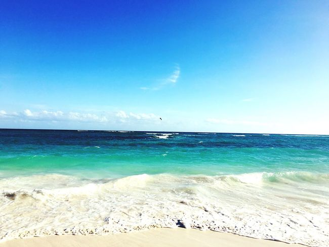 Caribe Caribbean Sea Sea Horizon Over Water Beach Water Sky Blue Scenics Nature Beauty In Nature Tranquility Tranquil Scene Sand No People Outdoors Day Xpu-ha Caribbean