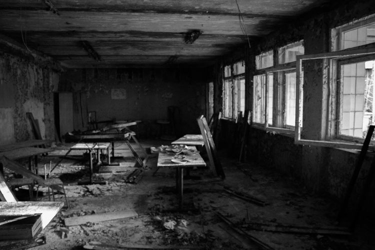 Interior Of Dirty And Abandoned Room