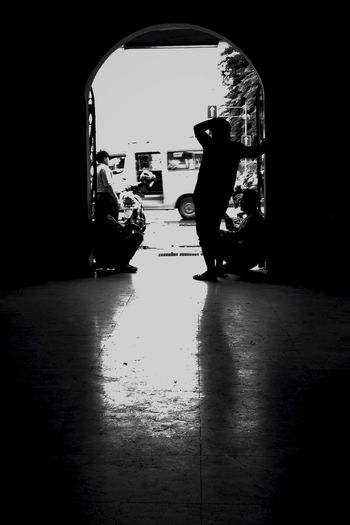 Blackandwhite Public Transportation Indonesian Street (Mobile) Photographie Divestreetphotography