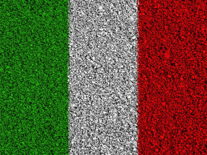 Italian flag Backgrounds Close-up Competition Competitive Sport Day Full Frame Grass Green Color Italy Italy Flag Multi Colored Nation Nature No People Outdoors Playing Field Red Rome Rome Italy Soccer Field Sport State Textured  Turf White Color