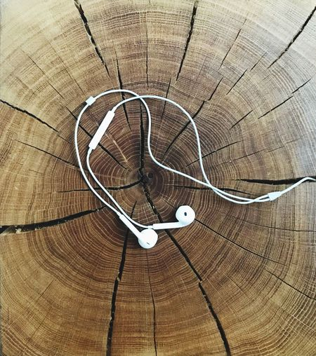 Earphones Wood Wooden Texture Music And Wood Beauty For Ears And Eyes Earphones On Wood